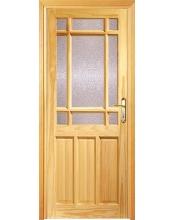 Camlı Ahşap Kapı 1