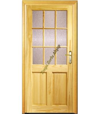 Camlı Ahşap Kapı 2